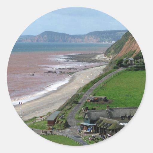 Branscombe Beach Round Sticker