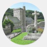 Branscombe Church Round Stickers