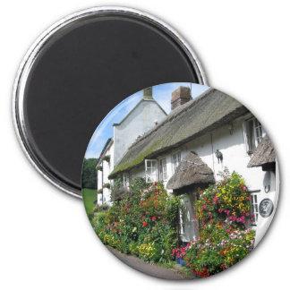 Branscombe Village Devon 6 Cm Round Magnet