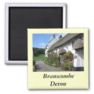 Branscombe Village Devon Square Magnet