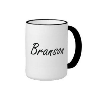 Branson Artistic Name Design Ringer Mug