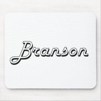 Branson Classic Retro Name Design Mouse Pad