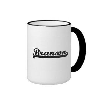 Branson Classic Retro Name Design Ringer Mug