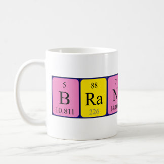 Branson periodic table name mug