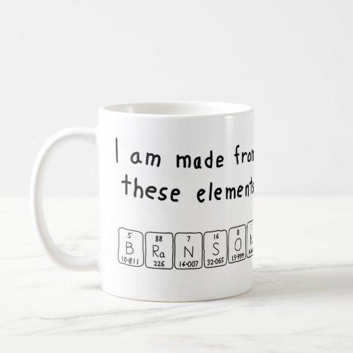 Branson periodic table name mug