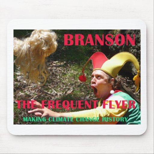 BRANSON THE FREQUENT FLYER MOUSE PADS