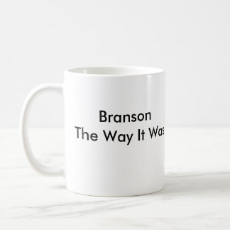 Branson The Way It Was Classic White Coffee Mug