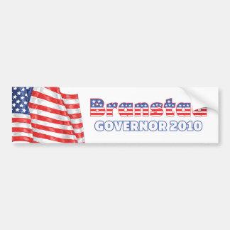 Branstad Patriotic American Flag 2010 Elections Car Bumper Sticker