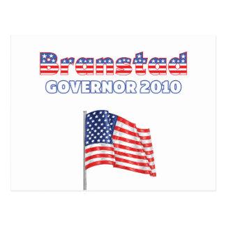 Branstad Patriotic American Flag 2010 Elections Postcard