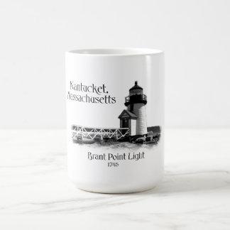 Brant Point Light - Massachusetts Basic White Mug