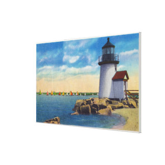 Brant Point Lighthouse Scene Canvas Print