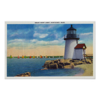 Brant Point Lighthouse Scene Poster