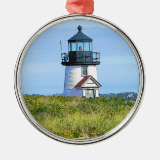 Brant Point Lighthouse Vintage Nantucket Christmas Ornament