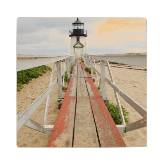 Brant Point Lighthouse Wood Coaster