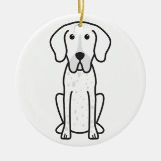 Braque Francais Dog Cartoon Christmas Ornament