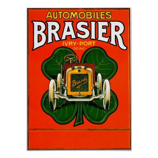 Brasier Motor Car ~ Vintage Automobile Ad Poster