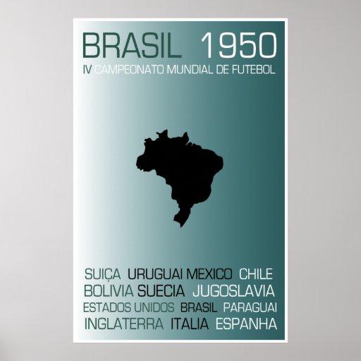 BRASIL1950 COPA MUNDIAL POSTER