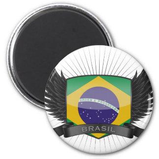 BRASIL 6 CM ROUND MAGNET
