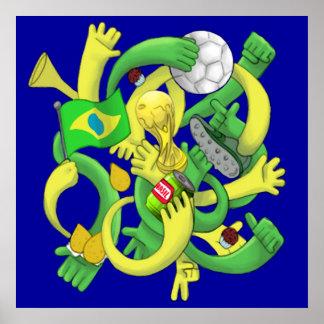 Brasil Brazil culture soccer futebol gifts Poster