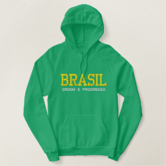 BRASIL ( BRAZIL ) Embroidered Hoodie