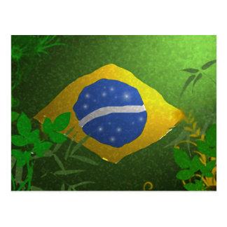 Brasil Brazil Flag Postcard