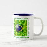 Brasil Brazil Soccer ball in the net artwork gifts Mug