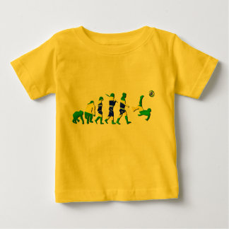 Brasil evolution of soccer football futebol gifts baby T-Shirt