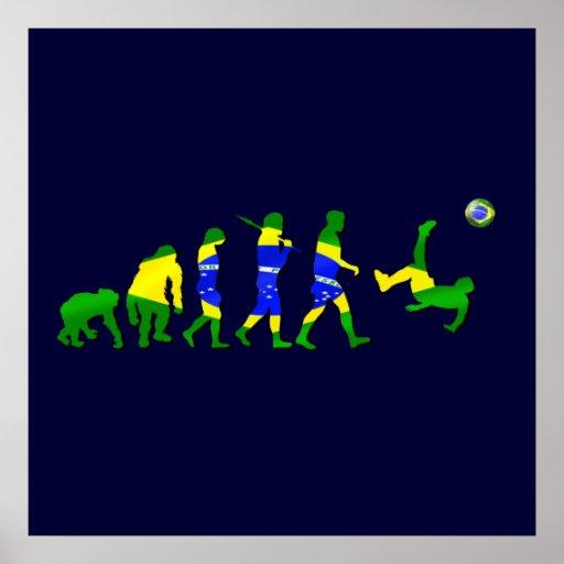 Brasil evolution of soccer football futebol gifts poster
