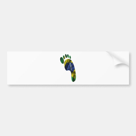 BRASIL  FLAG FOOT PRODUCTS BUMPER STICKER