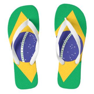 Brasil flag quality flip flops