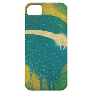 Brasil Flag Spray Paint iPhone 5 Cases