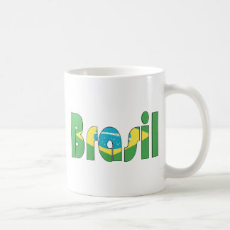 Brasil Flag T-shirt Basic White Mug