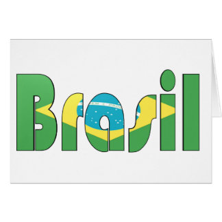 Brasil Flag T-shirt Greeting Card