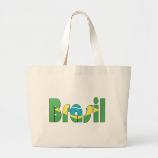 Brasil Flag T-shirt Jumbo Tote Bag