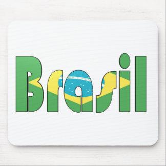 Brasil Flag T-shirt Mouse Pad