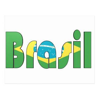 Brasil Flag T-shirt Postcard
