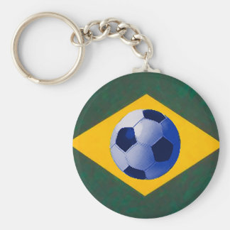 BRASIL FOOTBALL LOVERS BASIC ROUND BUTTON KEY RING