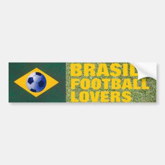 BRASIL FOOTBALL LOVERS CAR BUMPER STICKER