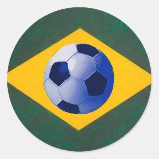 BRASIL FOOTBALL LOVERS ROUND STICKER