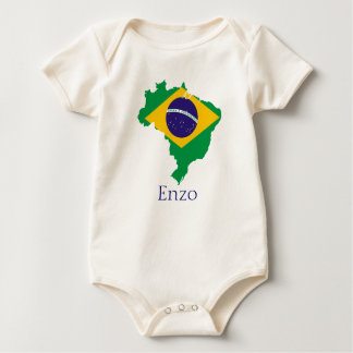 Brasil for Baby Enzo Baby Bodysuit