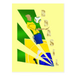 Brasil Graphic Chest control futebol Brazil gifts Postcard