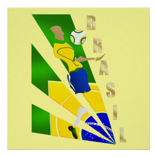 Brasil Graphic Chest control futebol Brazil gifts Poster
