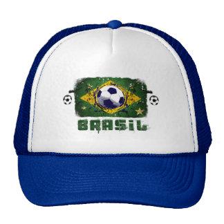 Brasil Grunge Soccer players Brazil Soccer gifts Cap