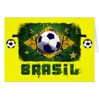 Brasil Grunge Soccer players Brazil Soccer gifts Card