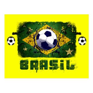 Brasil Grunge Soccer players Brazil Soccer gifts Postcard