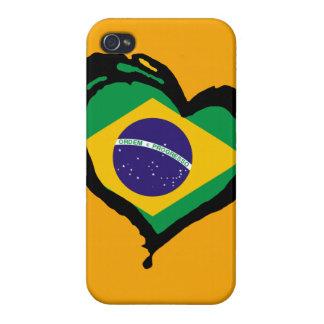 Brasil Heart Brazil! iPhone 4/4S Case