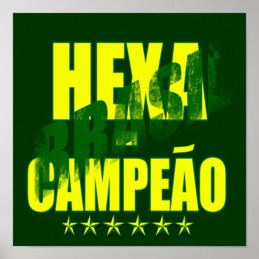 Brasil Hexacampeão Brasil Hexa Poster