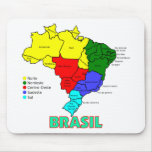 Brasil. Regions in Colour Mouse Pad