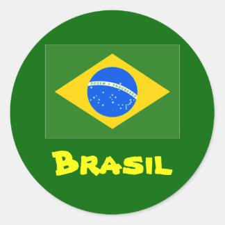 Brasil round stickers