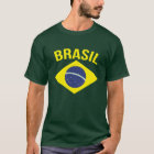 Brasil simple Brazilian flag green t-shirt